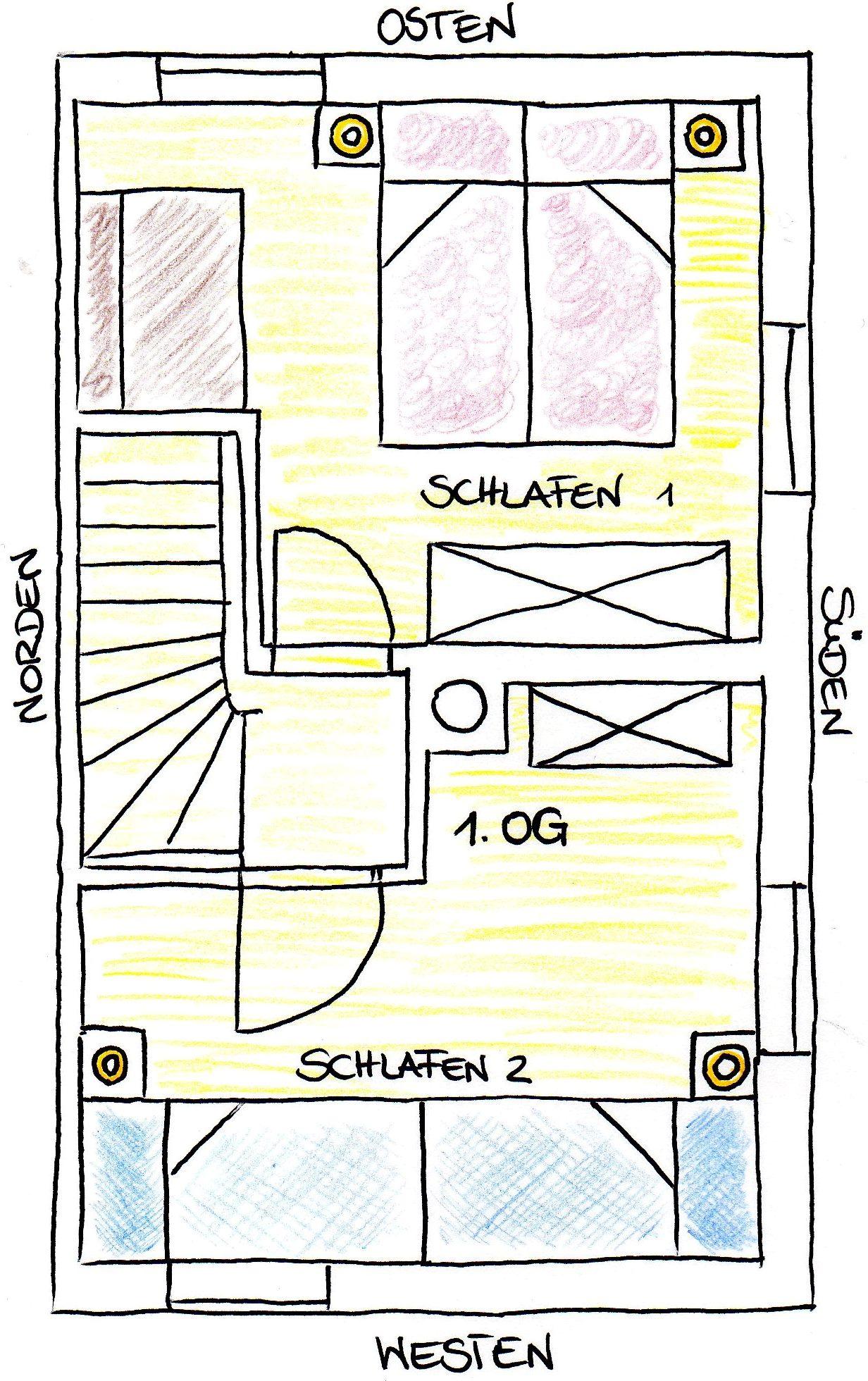 Grundriss Obergeschoss Ferienhaus Bad Tölz